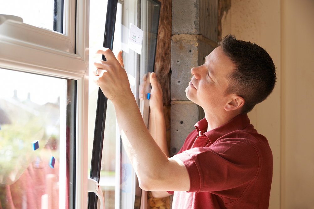 DIY Double Glazing installation taking place